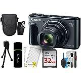 Canon PowerShot SX730 Digital Camera w/40x Optical Zoom & 3 Inch Tilt LCD - Wi-Fi, NFC, & Bluetooth Enabled (Black) + 32GB Card + Reader + Case + DigitalAndMore Accessory Bundle