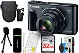 Canon PowerShot SX730 Digital Camera w/40x Optical Zoom & 3 Inch Tilt LCD - Wi-Fi, NFC, Bluetooth Enabled (Black) + 32GB Card + Reader + Case + DigitalAndMore Accessory Bundle