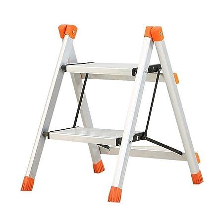 Atten Hogar 2-Escalera de Mano Plegable de Aluminio de múltiples Funciones de Espesamiento de Escalera Kitchen Car Wash Ascendente Escaleras de Mano: Amazon.es: Hogar