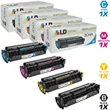LD Compatible Toner Cartridge Replacement for HP 304A (Black, Cyan, Magenta, Yellow, 4-Pack)