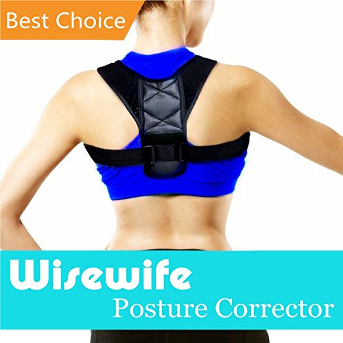 Posture Corrector for Women & Men - Adjustable clavicle brace for posture correction back corrector by Wisewife (Halloween Ideas With Normal Clothes)