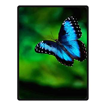 doubee mariposa Butterfly Natural Forro Polar Manta al aire libre Picnic Manta 147 cm x 203