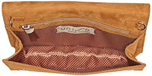 Unisa ZDIVA_KS, Clutch Donna, 6x13x22 cm (B x H x T) Marrone (Couro)