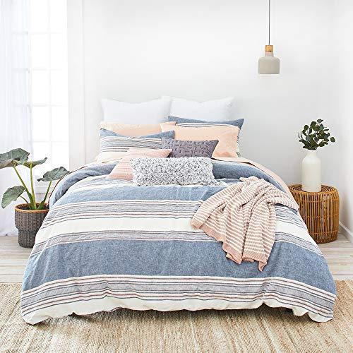 (Splendid Home Tuscan Stripe Comforter Set, Twin, Navy/Multi)