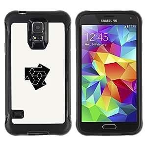 Paccase / Suave TPU GEL Caso Carcasa de Protección Funda para - cube combine logo - Samsung Galaxy S5 SM-G900