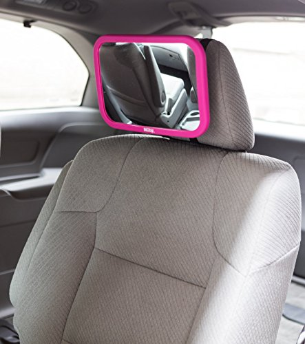 Nuby Baby Car Mirror, Backseat Baby Mirror, Baby Rear View Car Seat Mirror, Pivoting Base Back Seat Mirror, - Shop Broadway Town