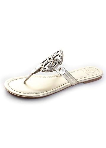b509025a1aeec9 Tory Burch Miller Metallic Sandal Womens (6