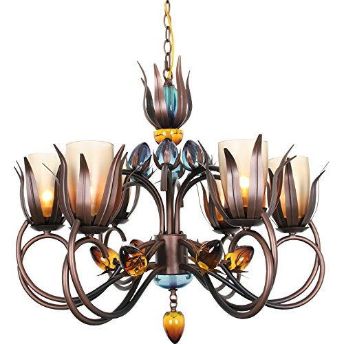 Van Teal 800250 D'Ana Dance of Fire Chandelier, Copper/Black