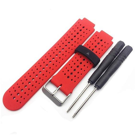 Jewh Silicone Watch Strap Band for Garmin Forerunner 220 230 235 620 630 Smart Watch -