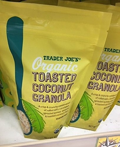 - Trader Joe's Organic Toasted Coconut Granola, 12 OZ (PACK OF 2 BAGS)