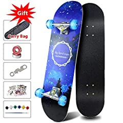 Easy_Way Skateboards are fit for adults and kids, beginners and good for gift a present.It can load 220lbs .                                                      ★ Easy_Way StandardSkateboard Stand out Advantages            ...