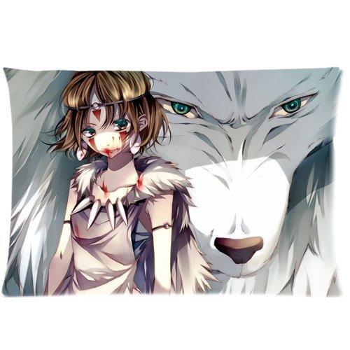 Princess Mononoke Zippered Pillow Cases 20x30 (Twin sides)