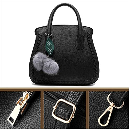 Bag PU Strap L004FR Women of for Noir Shoulder Autumn Trend Handbags Ladies' Fashion with Leather Simple PwdaHqxR
