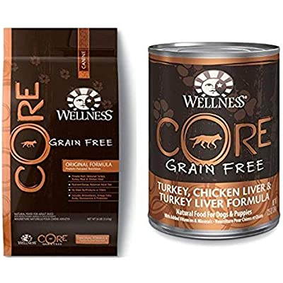 Wellness Well Pack: Core Grain Free Original Wet Canned & Dry Dog Food