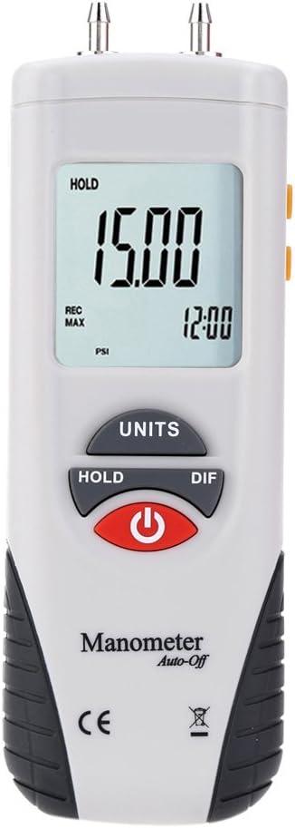 Mengshen Digitales Manometer Professional Digitales Luftdruckmessgerät Differenzdruckmessgerät 13 79 Kpa 2 Psi M1890 Baumarkt
