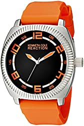 Kenneth Cole REACTION Unisex 10014708 Street Analog Display Japanese Quartz Orange Watch