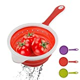 Ireav 3PCS Silicone Cooking Utensils Foldable Colander Large Filter Oil Spoon Non stick Cooking Strainer Kitchen Gadgets