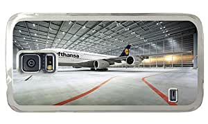Hipster wholesale Samsung Galaxy S5 Case A380 800 Lufthansa PC Transparent for Samsung S5