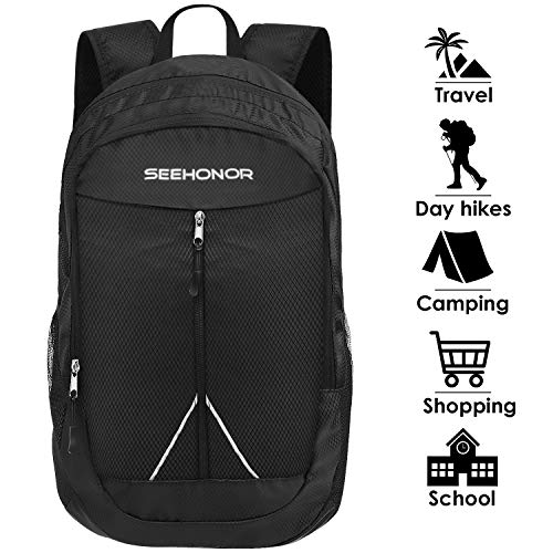 Cheap SEEHONOR Packable Lightweight Backpack Hiking Daypacks Foldable Durable Water Resistant Travel Backpack
