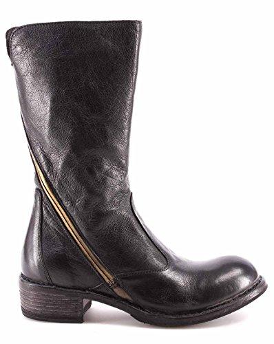 Damen Schuhe Stiefel MOMA Boots 78504-3A Orlando Nero Schwarz Vintage Italy Neu