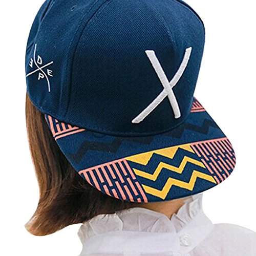 Caps,Toraway New Unisex Hip-Pop Letter X Flat Hat Baseball Cap Hip-Hop Peaked Cap