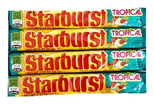 Starburst Tropical Fruit Chews | 2.07 oz Each | Pack of 4]()