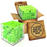 aGreatLife Money Maze Puzzle Box Gift: Green Perfect Puzzle Money Holder, Funny and Cool Brain Teasers for Kids, Boys, Girls, Teens and Adults, Perfect Christmas Gag Gifts