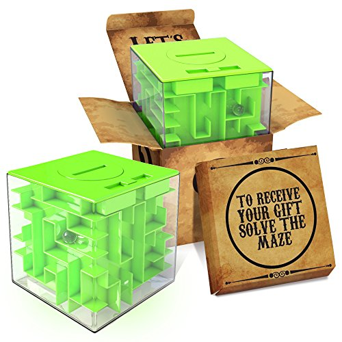 aGreatLife Money Maze Puzzle Box - Ideal Way to Store or Give Money, Cube Money for Kids, Boy, Girls and Teens