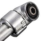 45 Degree Offset Screwdriver Attachment Bit Holder Portable Metal...