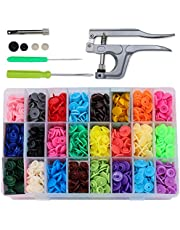 Snaps Buttons Kit Plastic with Snaps Pliers Plastic Snaps Fastener for Sewing and Crafting 360pcs T5 Plastic Snap Button 24 Colors