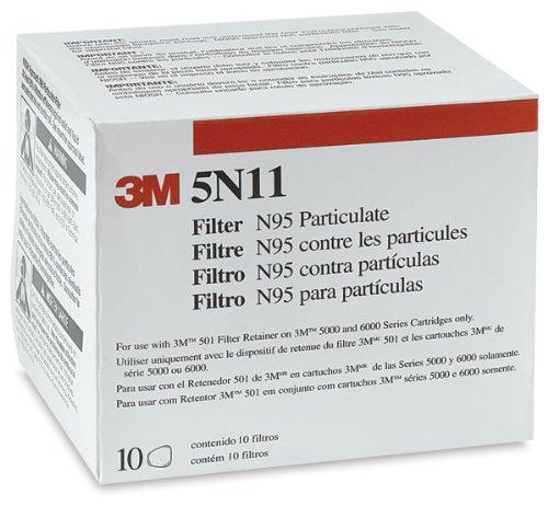 3M 5N11 N95 Filter for 5000 and 6000 Series/3M-5N11 N95 濾棉
