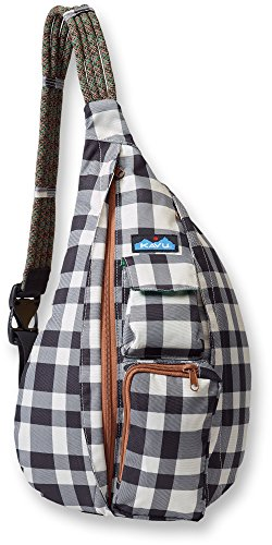 KAVU Rope Sling Backpack, Bw Plaid, One Size