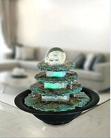 tischbrunnen zimmerbrunnen terrasse rund mit led farbwechselnd fa 1 4 r eine gema tliche entspannte atmosphare raumbefeuchter amazon