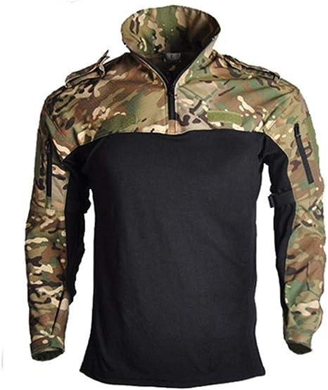 Camisas Del Ejército De EE.UU. Táctica Militar Hombres Camiseta De Manga Larga SWAT Soldados Transpirable De Secado Rápido Del Combate Camiseta De Airsoft Ropa De Hombre (Color : CP , Size :