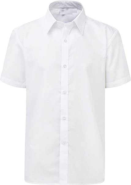 Back to School Boys Polycotton School Shirt Blue /& White Long /& Short sleeve