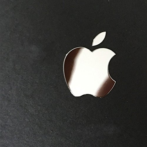 Metal Sticker (Wallner 5pcs in set metal Silver Apple Logo Overlay metal Decal sticker For iPhone 6Plus 5s 5c 7plus iphone8 iphone 8 Plus (Silver))