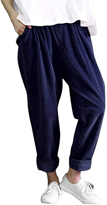 Casual trousers Ladies Office Career Narrow Vintage cotton Pants Size 10 12