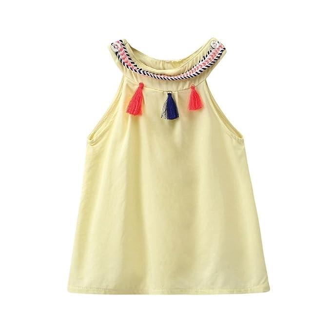 Vestido Para Bebé NiñAs DRESS Start® Vestido Linda Con Borlas Boda NiñA Vestido De Sin Mangas Princesa Fiesta Ropa Barata Bebé NiñAs Para Verano: Amazon.es: ...