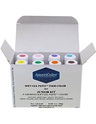 Food Coloring AmeriColor Soft - Gel Paste Junior Kit, 8 Colors, .75 Ounce Bottles