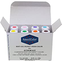 Food Coloring AmeriColor Soft - Gel Paste Junior Kit, 8 Colors, .75 Ounce Bottles