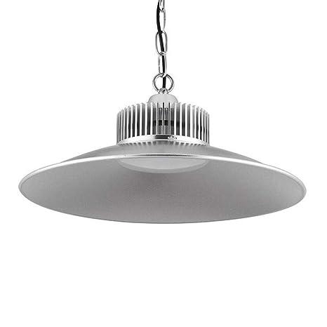 Sararoom 150W Lámpara Industrial LED,IP54 Impermeable lamparas techo colgantes,Alta luz de la bahía,15000LM,Blanco frio 6500K,E27 Zócalo,para ...