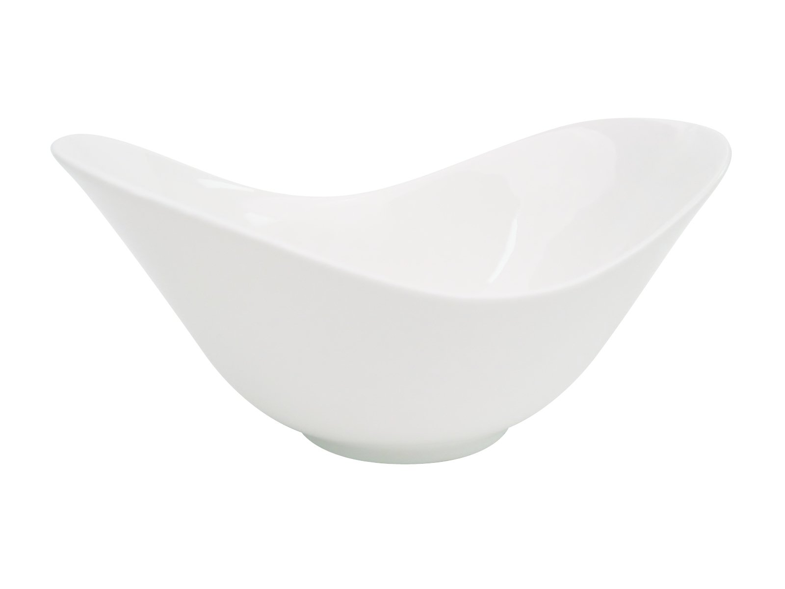 CAC China SHER-72 Sheer 11-Inch by 7-Inch Bone White Porcelain Spirit Dish, Box of 12