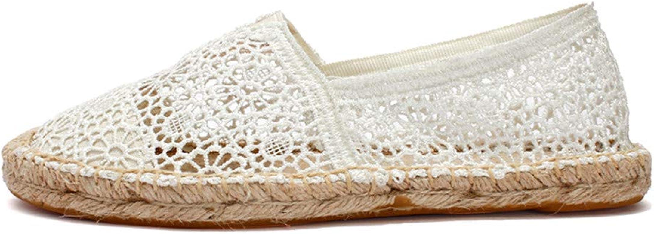 Alikeey - Zapatos Elegantes de Mujer con Suela Fina y Suela Fina, Alpargatas con Plataforma Transpirable de Color Liso para el otoño, Verano, Tenis, Plataforma, Running, Zapatillas Blanco Size: 40 EU: Amazon.es: