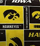 College University of Iowa Hawkeyes Print Fleece Fabric By the Yard