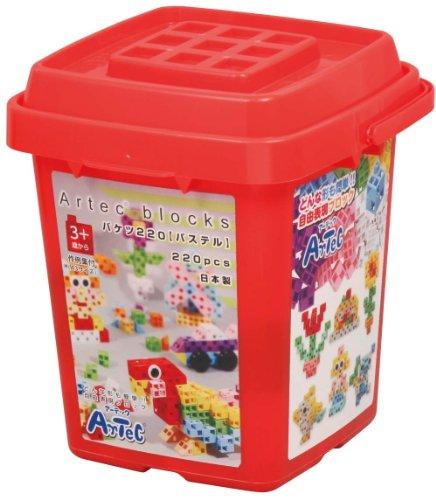Artec Atekku block bucket 220 pastel (japan import)