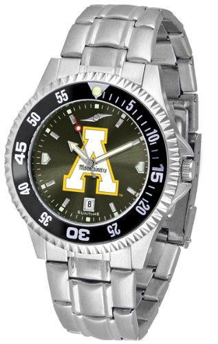 (Linkswalker Mens Appalachian State Mountaineers Steel Anochrome Bezel)
