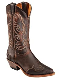 Boulet Western Boots Womens Cowboy Leather Laid Back Copper 6007