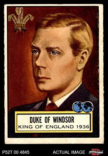 1952 Topps # 103 Duke von Windsor (Card) Dean'S Cards 4 - Vg/Ex