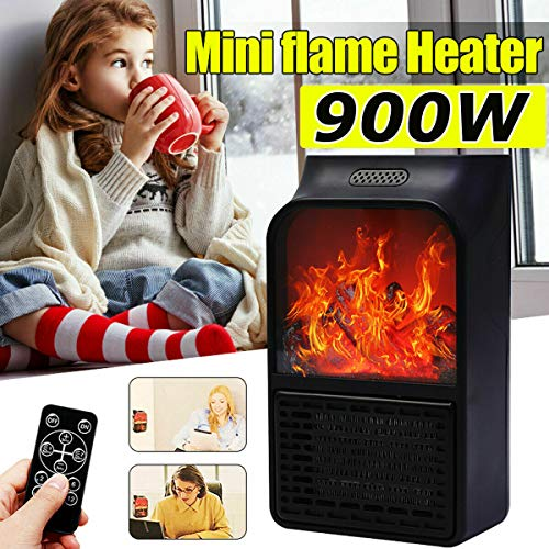 Cheap 900W Wall Mount Electric Fireplace Heater Flame Log Air Warmer Remote Control US Black Friday & Cyber Monday 2019