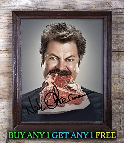Nick Offerman Parks Recreation Autographed Signed 8x10 Photo Reprint #78 Special Unique Gifts Ideas Him Her Best Friends Birthday Christmas Xmas Valentines Anniversary Fathers Mothers Day